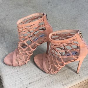 Caged/net sandal heels